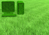 Grass computer wallpaper — Stock Photo