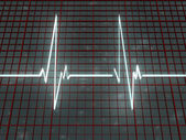 White line cardiogram on space — Stock Photo