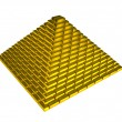 Gold ingots pyramid — 图库照片 #5130930