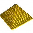 Gold ingots pyramid — Stock Photo