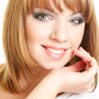 Face of red-haired girl - Stockfoto