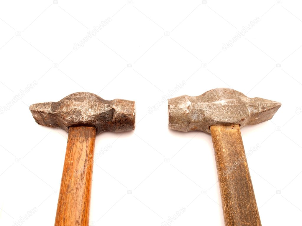 Hammers on a white background     — Stock Photo #4048487