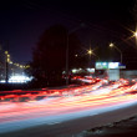 City lights at night — Stock Photo