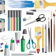 Paint accessories — Image vectorielle