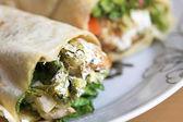 Arabic Wrap sandwich — Stock Photo