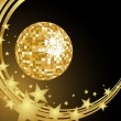 Golden mirror ball — Stock Vector #3974966