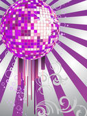 Colorful mirror ball — Stock Vector