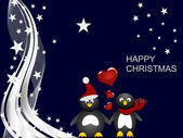 Penguin christmas — Stockvektor