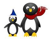 企鹅家族 — 图库矢量图片