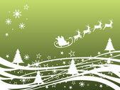 Elegantní vánoční přání — Stock vektor