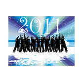 New years eve 2011 — Vector de stock