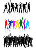 Dancing — Stock Vector