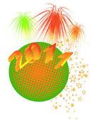 Véspera de ano novo - 2011 — Vetor de Stock