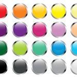 Glass button — Stock Vector #4641471