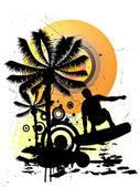 Verano - surf — Vector de stock