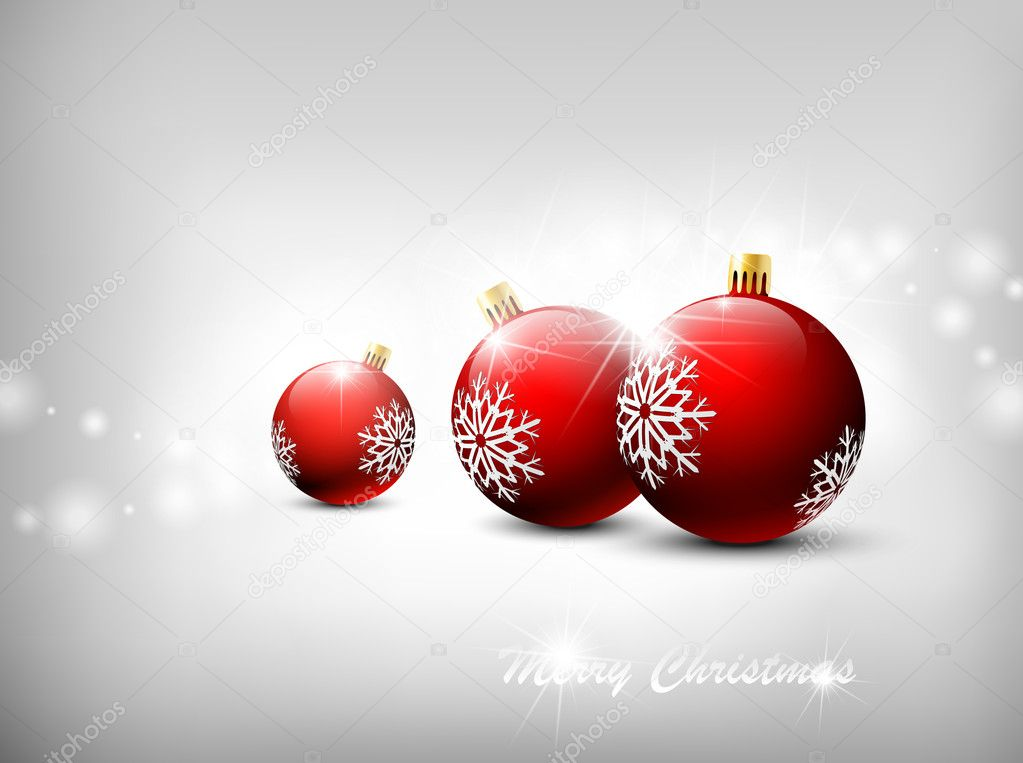 Christmas background. Vector illustration — Vettoriali Stock  #4385787