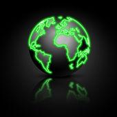 Globe on a blue background. Vector illustration. — Stock Vector