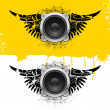 Party design element with speakers — Stock Vector