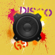 Royalty-Free Stock Vector Image: Party design element with speakers
