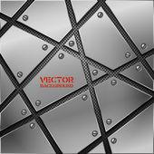 Metall abstrakten hintergrund. — Stockvektor