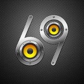 Element projektu strony z głośnikami — Wektor stockowy