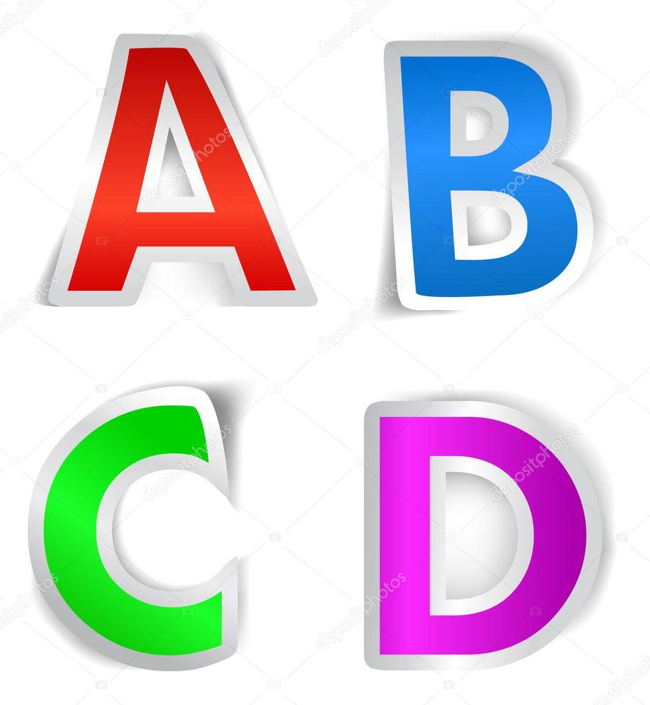 Vector alphabet... D Alphabet Design