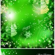 Green background with sparkles star. Vector — Stock Vector