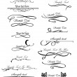 Set ornate design elements for you text. Vector - Stock Vector