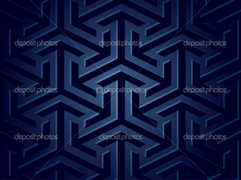 Seamless blue background of geometric shapes. Vector illustration  Stock Vector #4024485