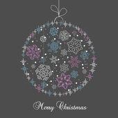Vánoční koule v kreslených stylu. vektor — Stock vektor