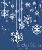 New Year blue decoration. Vector illustration — Stock Vector