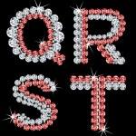 Set of diamond alphabetic letters. Vector (5) — Stock Vector