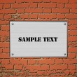 Billboard Sign On An Old Red Brick Wall.Vector - Stock Vector