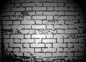 Black And White Brick Wall. Vector — Stock Vector