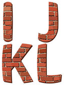 Set vector brick alphabet — Stock Vector