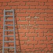 Ladder Against Brick Wall. Vector illustration — Vektorgrafik