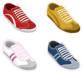Set sport shoes, sneakers. Vector — Stock Vector