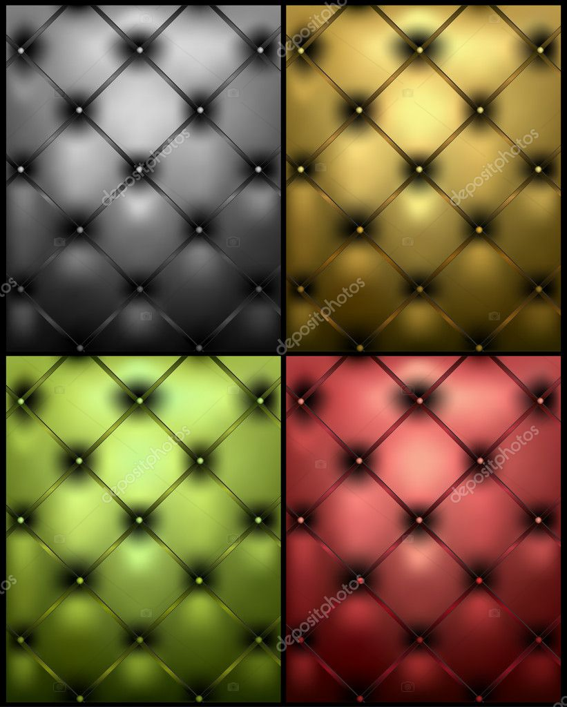Set different colors genuine leather texture. Vector illustration — Stock Vector #4315216