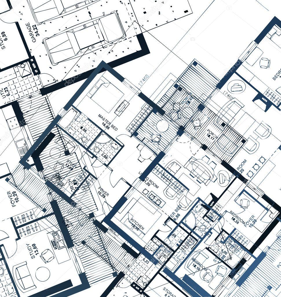 Blueprint Vector Drawings Horizontal Vector of a