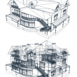 Stock Vector: Architecture Blueprint Of A House. Vector