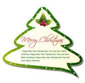 Cartoon Christmas Tree. Vector — Vector de stock