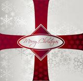 Zilveren kerstmis achtergrond. vector — Stockvector