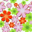 Flower seamless bright background. Vector - Stock Vector