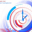 Royalty-Free Stock Vector Image: Abstract clock colorful background. Vector