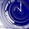 Abstract clock blue background. Vector - Stock Vector