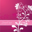 Pink Flower Ornament. Vector - Stock Vector
