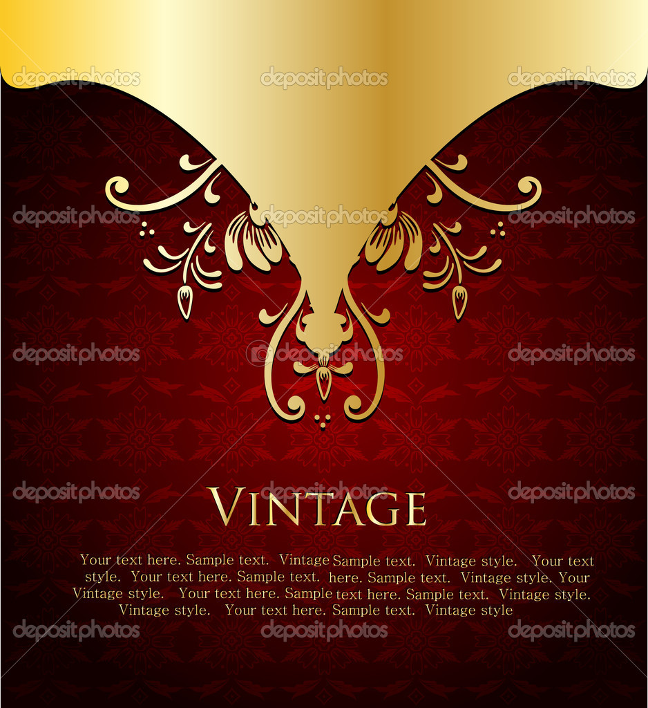 Vector of wine label template with sample text. — Stock Vector #4590371