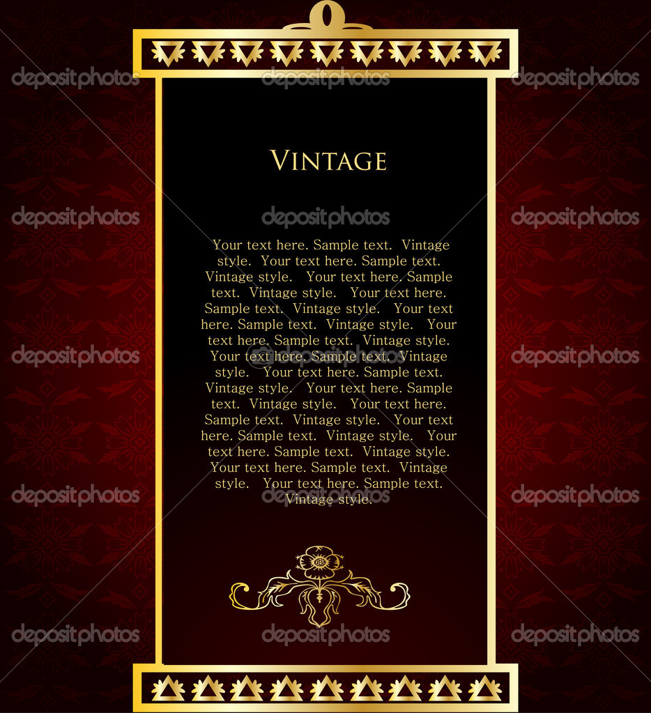 Vector of wine label template with sample text.  Stock Vector #4590396