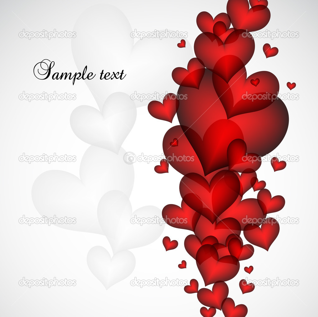 Valentine's Day card eps 10. Vector illustration — Stock Vector #4622299