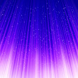 Stars on blue light. Vector - Stock Vector